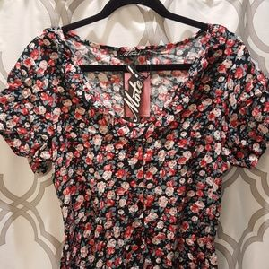Motel Rocks Celini Skater Dress Courtney Flower L